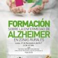 El lunes 27 de noviembre en el Edificio Alcalde Niño Anselmo de Estepa tendrá lugar una sesión de formación sobre la enfermedad de Alzheimer.