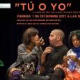 """El viernes 1 diciembre a partir de las 18:30 se representará la obra de teatro """"Tú o yo"""" en la Casa de la Cultura Miguel de Cervantes de Estepa."""