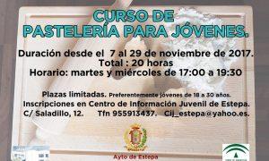 Curso de pastelería para jóvenes en Estepa