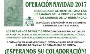 Operación Navidad 2017: Recogida de alimentos en Estepa