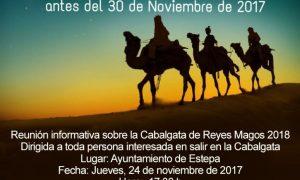 Reunión informativa sobre la Cabalgata de los Reyes Magos en Estepa