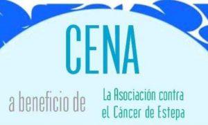 Cena benéfica en Estepa a favor de la Asociación contra el cáncer