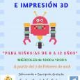 A partir del 7 de febrero en el Centro Guadalinfo de Estepa se impartirá un taller de robótica e impresión 3D  dirigido a niños y niñas entre los 8 y los 12 años.