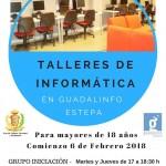 Talleres de informática en Guadalinfo Estepa