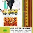 """El próximo lunes 10 de septiembre en la Casa de la Cultura de Estepa se proyectará la película """"Gru 3, mi villano favorito"""" con motivo de la vuelta al cole."""