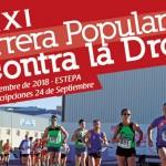 XXI Carrera Popular Contra la Droga en Estepa. Edición 2018