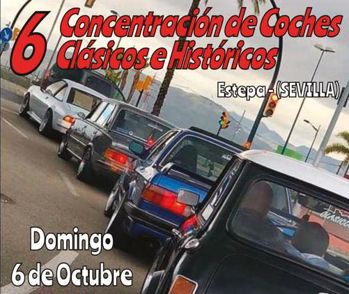 Encuentro de coches antiguos en Estepa