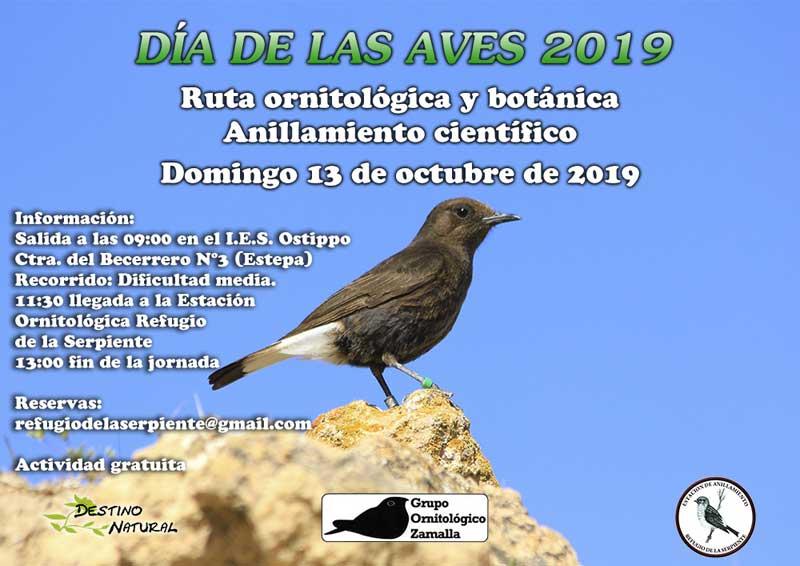 Ruta ornitológica y botánica en Estepa