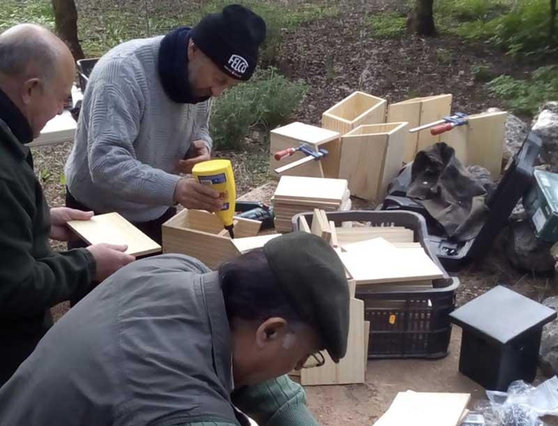 Proyecto cajas nido en Estepa